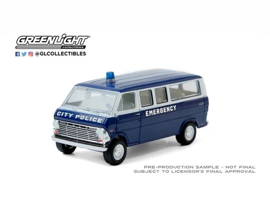 Greenlight 1/64 1969 Ford Club Wagon - City Police image