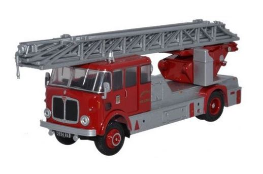 Oxford  1/76 AEC Mercury Turntable Ladder Derbyshire Fire Service image