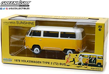 Greenlight Collectables 1/24 1978 Volkswagen Type 2 (T2B) Bus Yellow/White Roof image