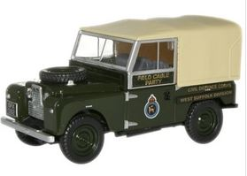 Oxford  1/76 Land Rover Series 1 88 inch Canvas Back Civil Defence image