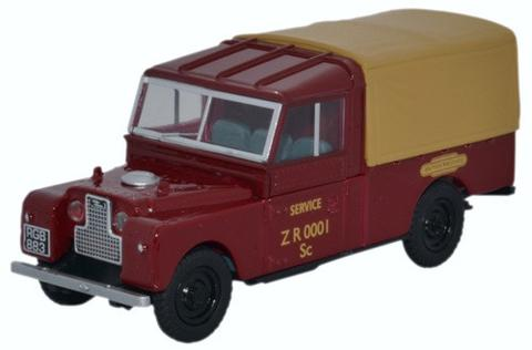 Oxford 1/43 Land Rover Series 1 109 inch Canvas cover - British Rail  image