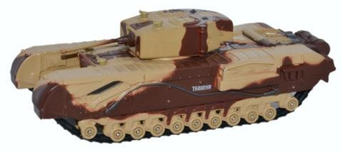Oxford  1/76 Churchill Tank MkIII King Force- Major King image