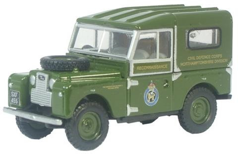 Oxford  1/76 Land Rover Series 1 80 inch Hard Top Civil Defence image