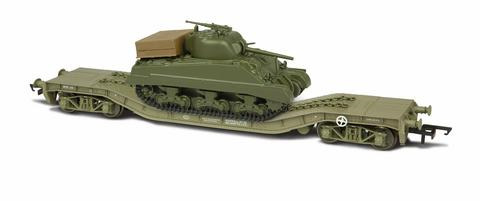 Oxford  1/76 Warwell with Sherman Tank  image