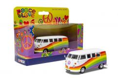 "Corgi 1/43 Volkswagen Campervan ""Peace Love and Rainbows"" image"