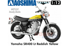 Aoshima 1/12 Yamaha SR400 - Red/Yellow image