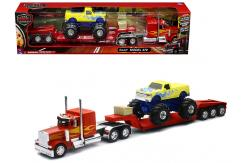 New Ray 1/32 Peterbilt 379 with Monster Truck image