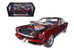 Shelby Collectables 1/18 1965 Shelby GT350R with Drag Racing Engine Candy Red/Black image