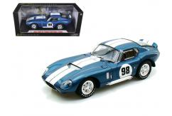 Shelby Collectables 1/18 1965 Shelby Cobra Daytona Coupe #98 Blue/White image
