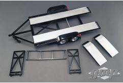GMP 1/43 Tandem Car Trailer with Tire Rack image