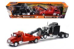 New Ray 1/43 Kenworth T300 Tow-Truck with Kenworth W900 image