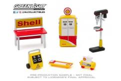 Greenlight 1/64 Shop Tool Accessories - Shell Oil image
