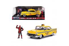 Jada 1/24 '57 Chevy Belair Taxi with Deadpool Figure image