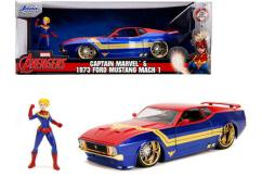Jada 1/24 1973 Ford Mustang with Captain Marvel image