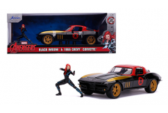 Jada 1/24 1966 Chevy Corvette with Black Widow image