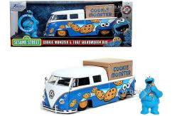 Jada 1/24 1963 VW Bus Truck with Cookie Monster image