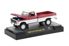 M2 Machines 1/64 1969 Ford F-100 Ranger 4x4 Red image