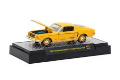 M2 Machines 1/64 1968 Ford Mustang Fastback 2+2 - Special Ordered Paint Yellow image
