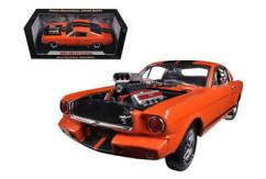 Shelby Collectables 1/18 1965 Shelby GT350R with Drag Racing Engine Orange/Black image