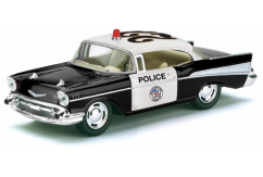 Kintoy 1/40 1957 Chevrolet Bel Air Police Black/White image