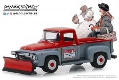 Greenlight Collectibles 1/64 1956 Ford F-100 with Snow Plow image