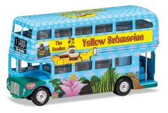 Corgi 1/64 The Beatles London Bus ' Yellow Submarine' image