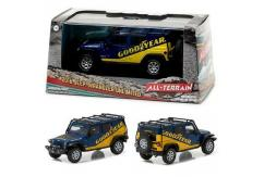 Greenlight Collectables 1/43 2016 Jeep Wrangler Unlimited Blue/Yellow image