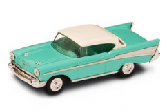 Road Signature 1/43 1957 Chevrolet Bel Air Turquoise/White image