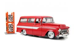 Jada 1/24 1957 Chevy Suburban with Rack image