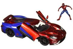Jada 1/24 '17 Ford GT with Spiderman Figure image