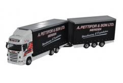 Oxford  1/76 Scania R480 Topline Truck & Trailer Unit A Pettifor & Son Ltd image