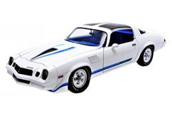 Greenlight 1/18 1979 Chevy Camaro Z/28 White/Blue Stripes image