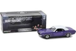 Greenlight Collectables 1/18 1970 Dodge Challenger R/T Purple/White image