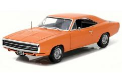 Greenlight Collectables 1/18 1970 Dodge Charger HEMI Orange image