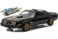 Greenlight Collectables 1/24 1977 Pontiac Firebird Trans Am 4.9L Black image