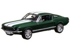 Greenlight Collectables 1/43 1967 The Fast and the Furious 1967 Ford Mustang Green/White Stripe image