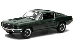 Greenlight 1/43 1968 Ford Mustang Fast Back - Bullitt Green image