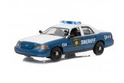 Greenlight 1/43 2001 Ford Crown Victoria Police Interceptor Blue image