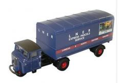 Oxford  1/76 Mechanical Horse Artic Van Trailer  image