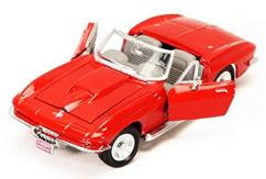Motormax  1/24 1967 Chevrolet Corvette Convertible Red  image