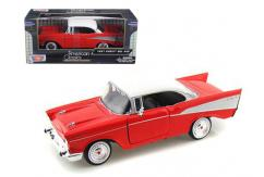 Motormax  1/24 1957 Chev Bel Air Red/White  image
