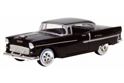 Motormax  1/43 1955 Chevrolet Bel Air Hard Top Black  image
