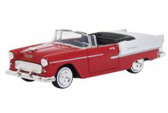 Motormax  1/43 1955 Chevrolet Bel Air Convertible White/Red  image
