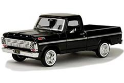 Motormax  1/24 1969 Ford F-100 Pick Up Black  image