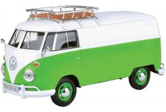 Motormax  1/24  Volkswagen Type 2 (T1) - Delivery Van with Roof Rack Green/White  image