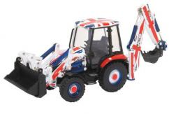 Oxford  1/76 JCB 3CX Eco Backhoe Loader Union Jack image