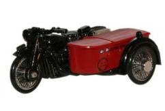 Oxford  1/76 BSA Motorbike and Sidecar Royal Mail image