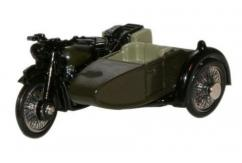 Oxford  1/76 BSA Motorbike and Sidecar 34th Armoured Brigade NW Europe 1945 image