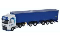 Oxford  1/76 DAF XF Euro 6 D-Tec Combi Trailer & Container Maritime Transport image