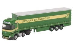 Oxford  1/76 Mercedes Actros GSC Curtainside Sparks image